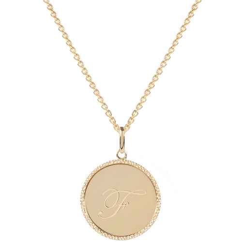 Echo Gold 'F' Initial Necklace