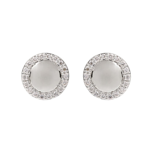 Hera White Gold and Diamond Studs