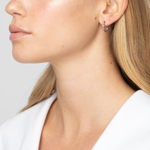 Halcyon Silver Small Hoops