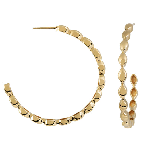Halcyon Gold Large Hoops