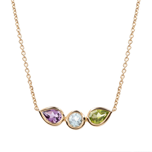 Spectrum Amethyst, Topaz and Peridot Necklace