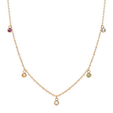 Load image into Gallery viewer, Spectrum Multicolour Gemstone Necklace
