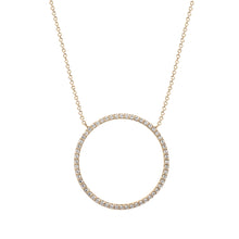Load image into Gallery viewer, Nova Gold White Topaz Infinity Necklace