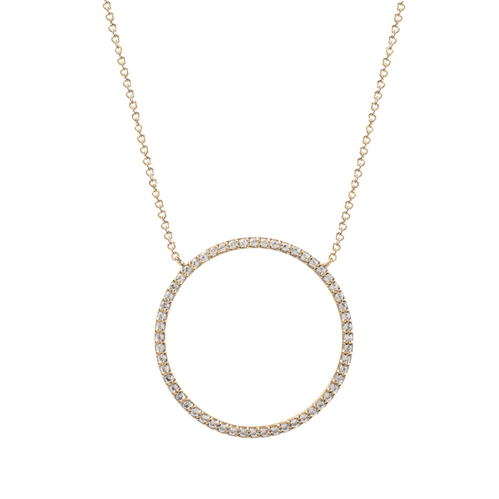 Nova Gold White Topaz Infinity Necklace