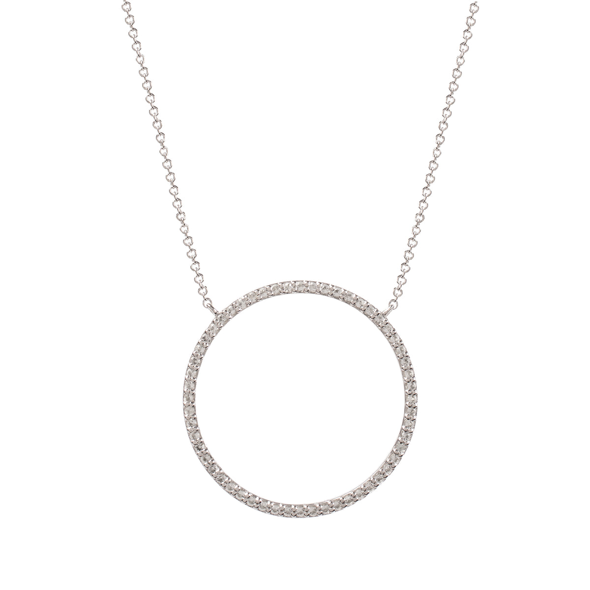 Nova White Gold White Topaz Infinity Necklace