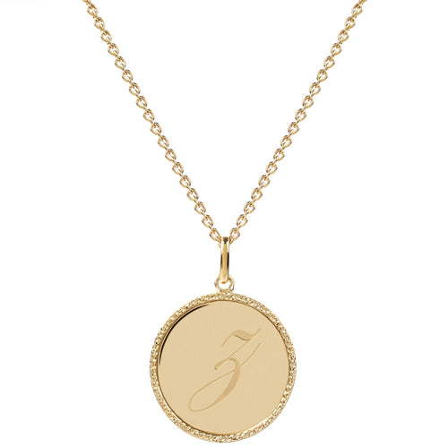 Echo Gold 'Z' Initial Necklace
