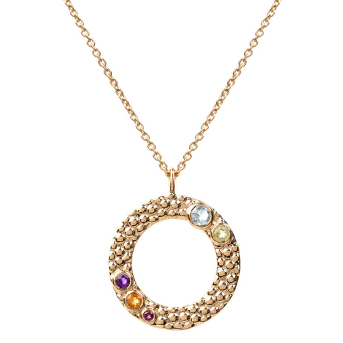 Wanderlust Gold Multicolour Gemstone Necklace