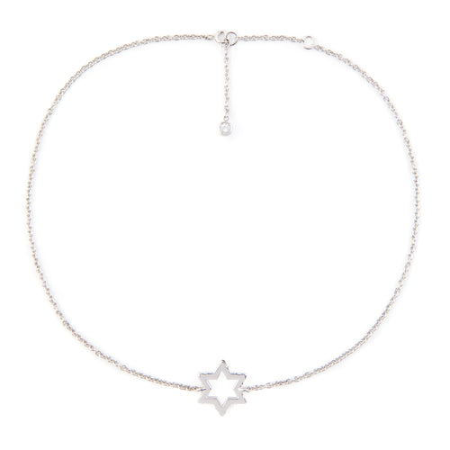 Cosmo Silver White Topaz Necklace