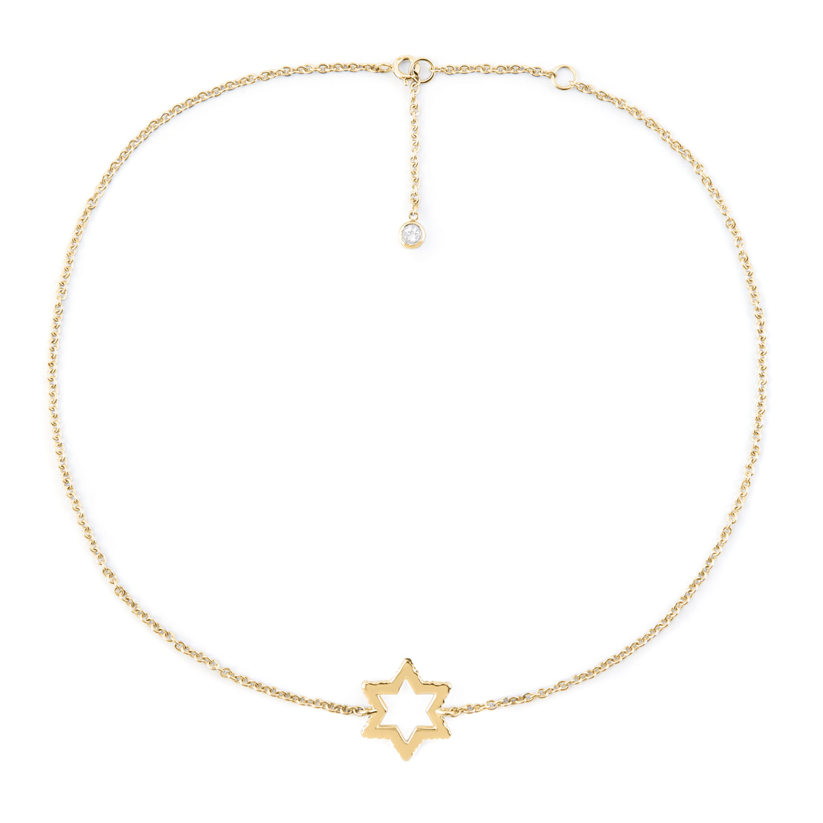 Cosmo Gold White Topaz Necklace