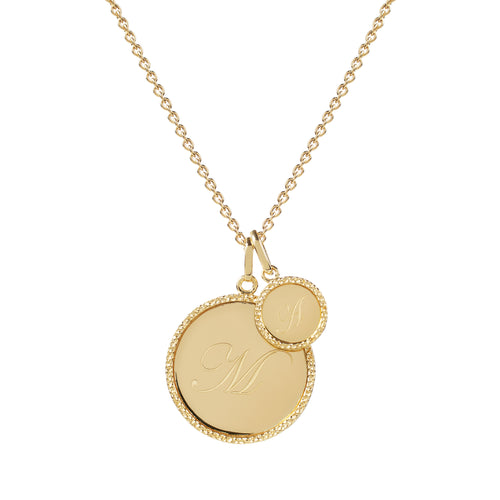 Echo Gold 'M' Initial Necklace