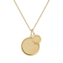 Load image into Gallery viewer, Echo Mini Gold Initial Pendant