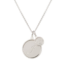 Load image into Gallery viewer, Echo Silver 'F' Initial Necklace