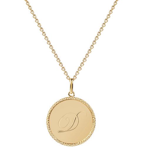 Echo Gold 'D' Initial Necklace