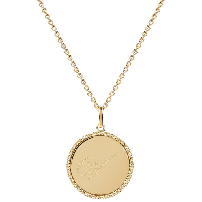 Echo Gold 'V' Initial Necklace