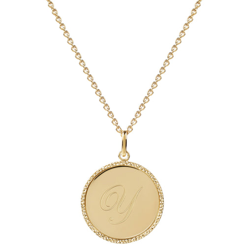 Echo Gold 'Y' Initial Necklace