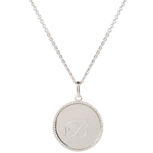 Echo Silver 'B' Initial Necklace