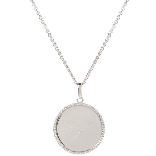 Echo Silver 'F' Initial Necklace