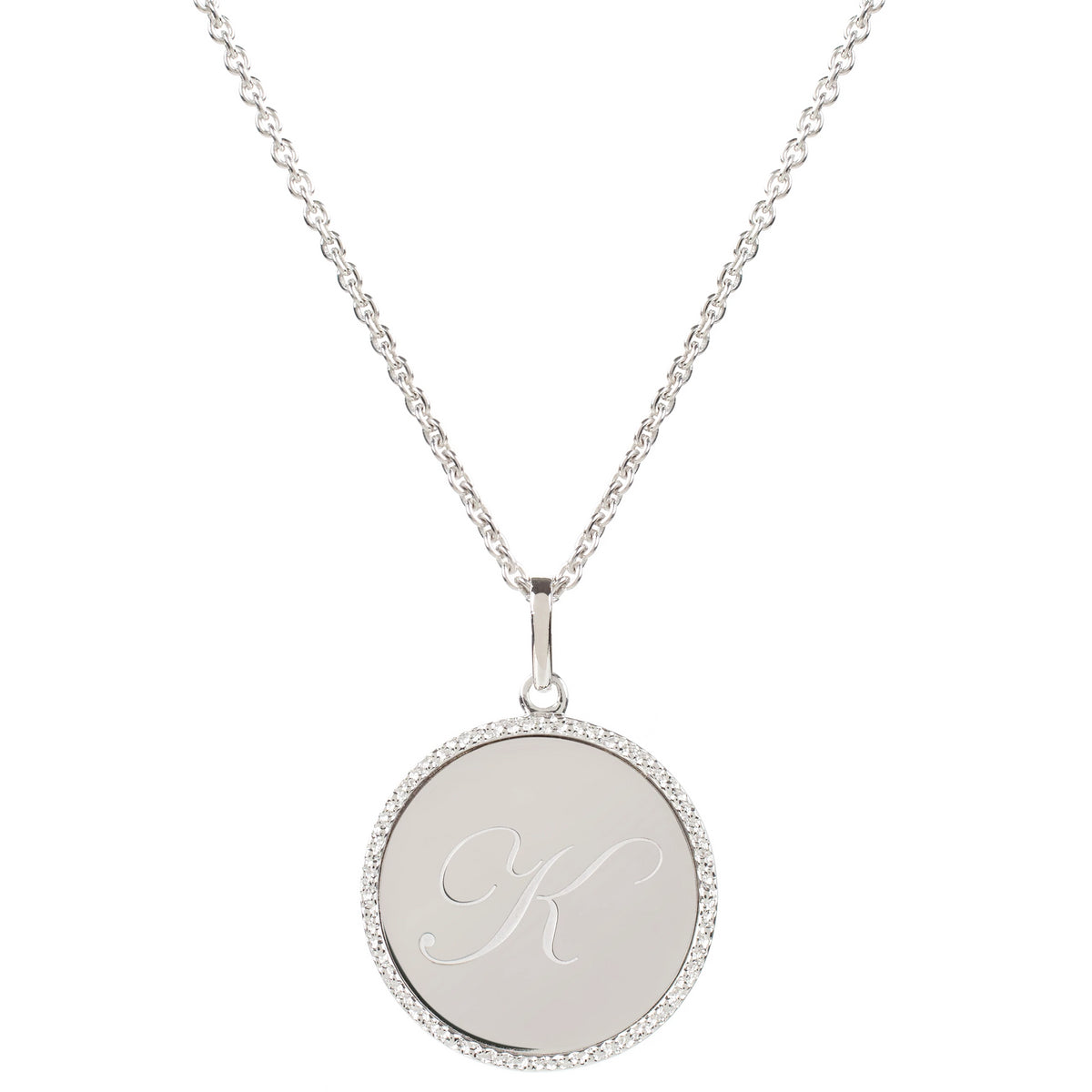 Echo Silver 'K' Initial Necklace