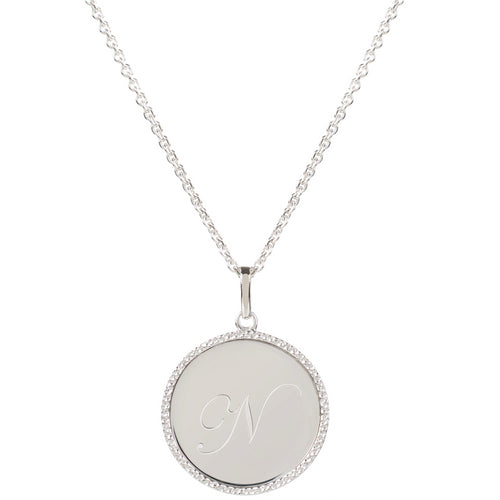 Echo Silver 'N' Initial Necklace