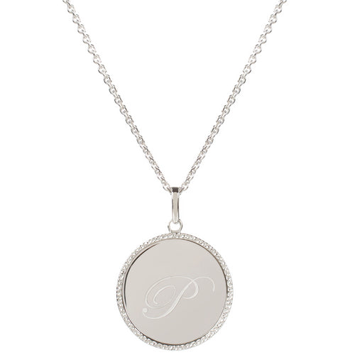 Echo Silver 'P' Initial Necklace