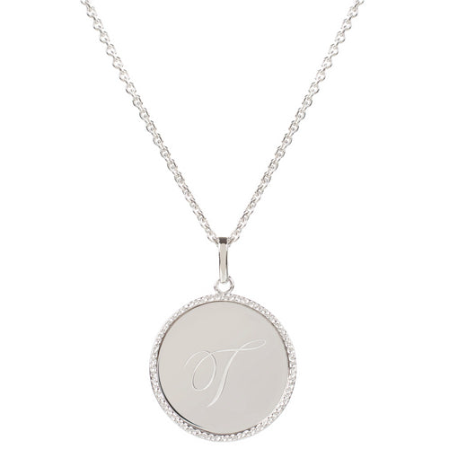 Echo Silver 'T' Initial Necklace