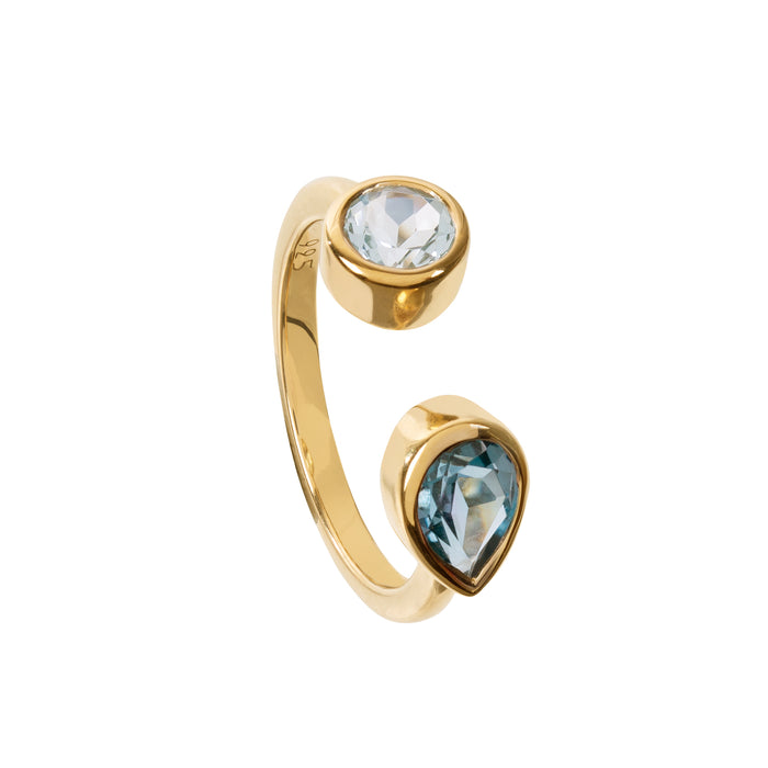 Spectrum London and Sky Blue Topaz Ring