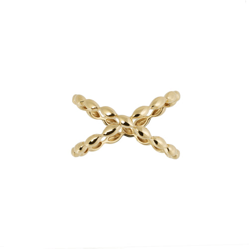 Halcyon Gold Crossover Ring