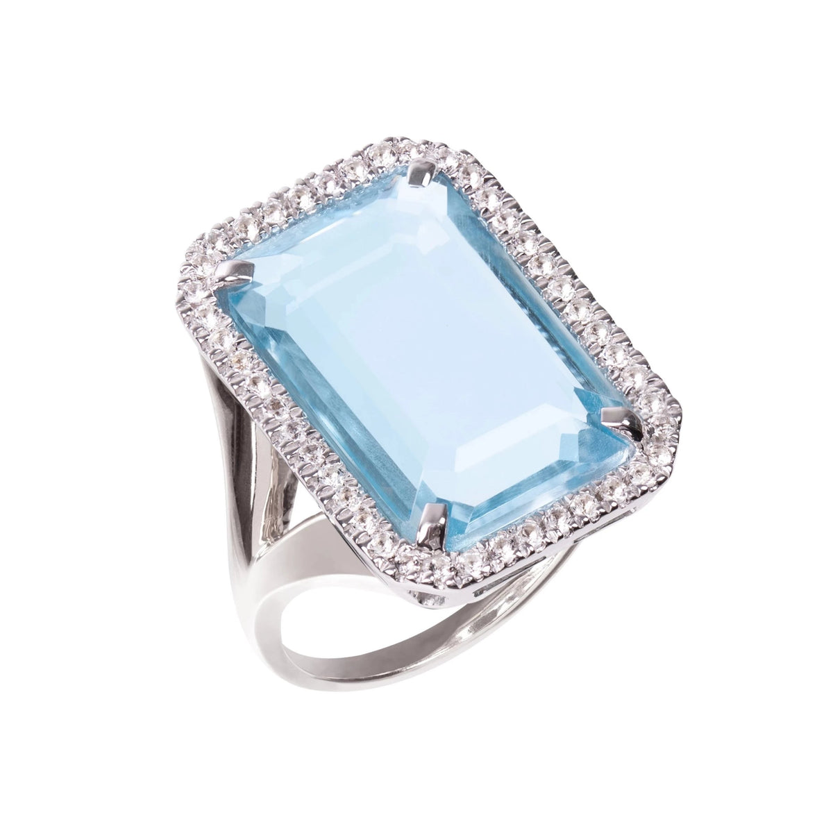 Electra Silver Sky Blue Topaz Ring