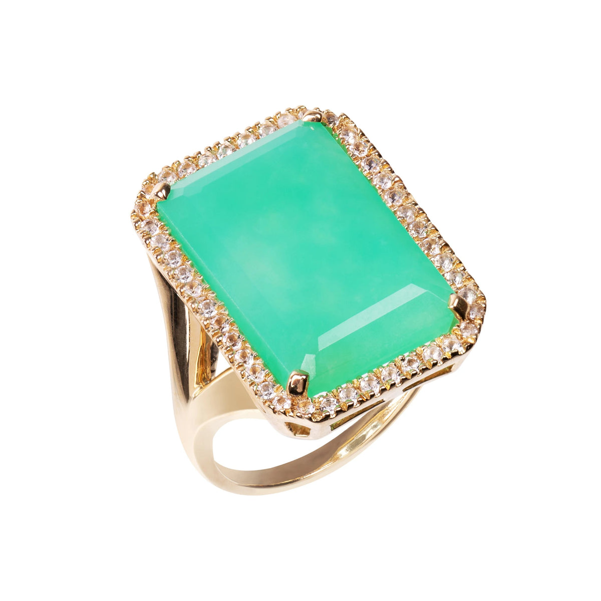 Electra Gold Chrysoprase Ring