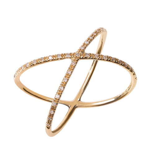 Nova Gold Crossover Ring