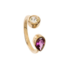 Load image into Gallery viewer, Spectrum Lemon Quartz and Rhodolite Ring