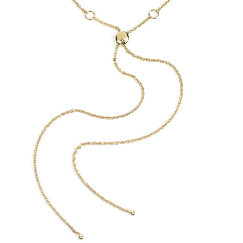 Cosmo Gold Long Lemon Quartz Necklace