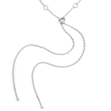Load image into Gallery viewer, Cosmo Silver Long White Topaz Necklace