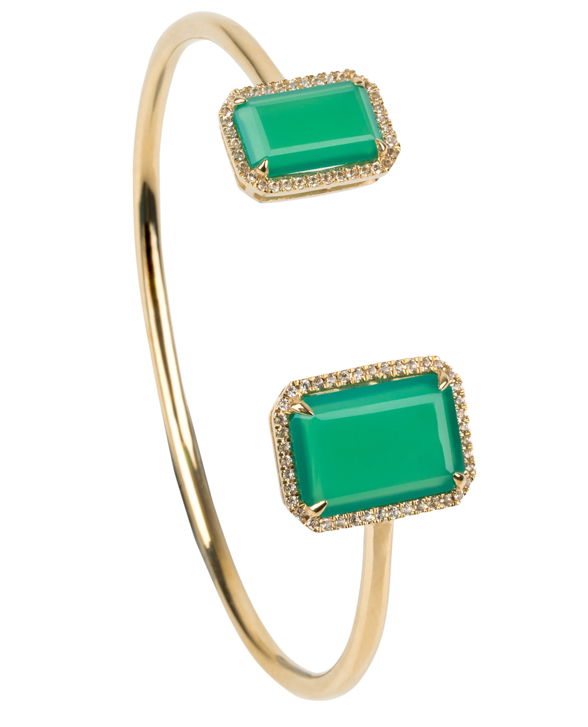 Electra Gold Chrysoprase Bangle