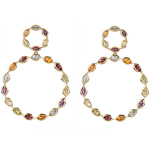 Load image into Gallery viewer, Halcyon Gold Multicolour Gemstone Earrings