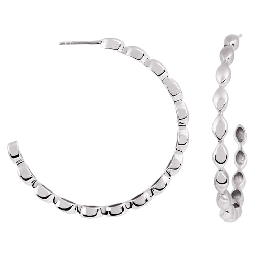 Halcyon Silver Large Hoops