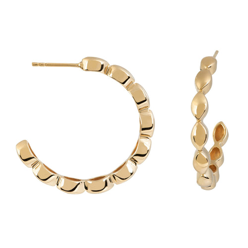 Halcyon Gold Medium Hoops