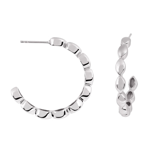Halcyon Silver Medium Hoops