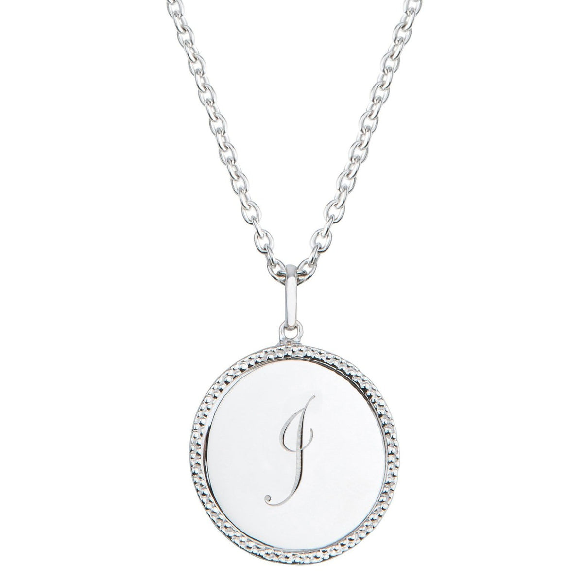 Echo Silver 'I' Initial Necklace