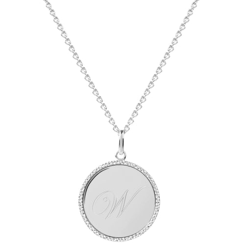 Echo Silver 'W' Initial Necklace