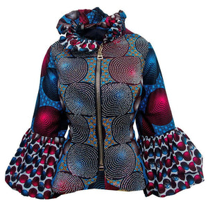 Blue Pattern Adunni Jacket