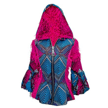 Load image into Gallery viewer, Pink Hooded Omotola Jacket
