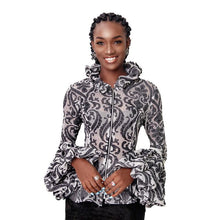 Load image into Gallery viewer, Black Print Adunni Jacket