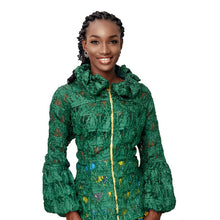 Load image into Gallery viewer, Sheer Green Adunni Jacket