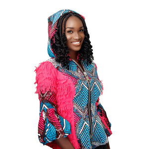 Pink Hooded Omotola Jacket