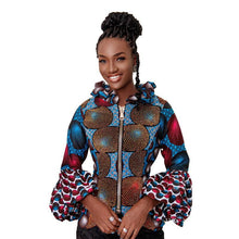 Load image into Gallery viewer, Blue Pattern Adunni Jacket