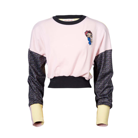 BABY ESTHER THE RIVETER CROPPED SWEATER
