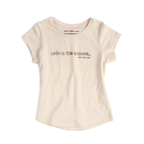 LOVE IS THE ANSWER TODDLER TEE