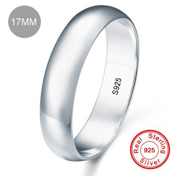 Zilver Trouwring / Wedding Ring - Unisex - 925 Zilver - 3 mm - Maat 54.4