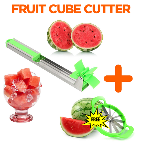 Combo : With Cube Cutter GET Stainless Steel Slicer FREE